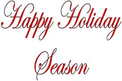 Szczęśliwa sezonu wakacyjnego teksta znaka ilustracja obraz stock