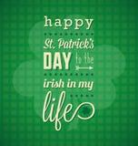 Szczęśliwa St. Patricks dnia karta Fotografia Royalty Free