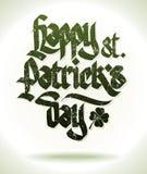 Szczęśliwa st. patricks dnia karta Obraz Royalty Free