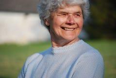 szczęśliwa stara kobieta Zdjęcia Stock