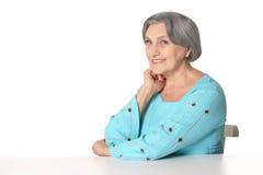 Szczęśliwa starsza kobieta fotografia royalty free