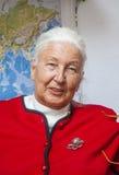 szczęśliwa starsza uśmiechnięta kobieta zdjęcie royalty free