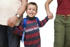 szczęśliwa szkoła chłopcze Zdjęcia Royalty Free