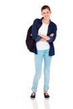 Szczęśliwa szkolna dziewczyna zdjęcia stock