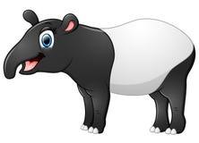 Szczęśliwa tapir kreskówka ilustracja wektor