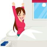 szczęśliwa target1632_0_ kobieta royalty ilustracja