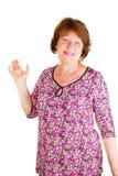 szczęśliwa target2311_0_ biała kobieta zdjęcia stock