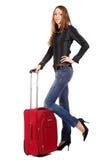 szczęśliwa turystyczna kobieta Zdjęcie Stock