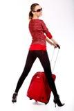 szczęśliwa turystyczna kobieta obrazy stock