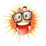 Szczęśliwa twarz na cierniowatej piłce ilustracji