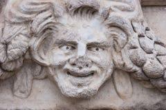 Szczęśliwa twarzy rzeźba Zdjęcie Royalty Free