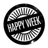 Szczęśliwa tydzień pieczątka Zdjęcia Royalty Free