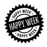 Szczęśliwa tydzień pieczątka Obraz Stock