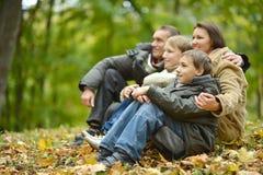 Szczęśliwa uśmiechnięta rodzina Fotografia Stock