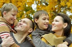 Szczęśliwa uśmiechnięta rodzina Zdjęcie Royalty Free