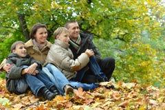 Szczęśliwa uśmiechnięta rodzina Obrazy Royalty Free