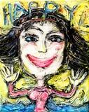 Szczęśliwa Uśmiechnięta wolności młoda dziewczyna Fotografia Stock