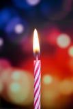 szczęśliwa urodzinowa świeczka Fotografia Royalty Free