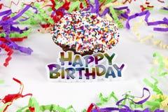 szczęśliwa urodzinowa babeczka Obraz Royalty Free
