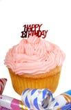szczęśliwa urodzinowa babeczka Obrazy Royalty Free