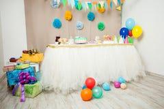 szczęśliwa urodzinowa dekoracja obrazy royalty free