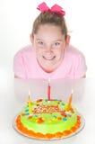 szczęśliwa urodzinowa dziewczyna Obrazy Royalty Free