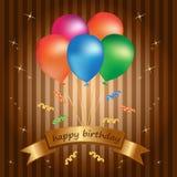 szczęśliwa urodzinowa karta Obraz Stock
