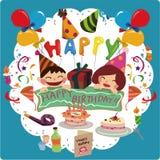 szczęśliwa urodzinowa karta Fotografia Royalty Free