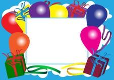 szczęśliwa urodzinowa karta royalty ilustracja