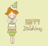 szczęśliwa urodzinowa karta Zdjęcia Royalty Free