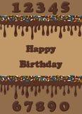 szczęśliwa urodzinowa karta Obrazy Stock