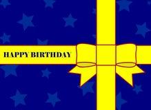 szczęśliwa urodzinowa karta Zdjęcia Stock