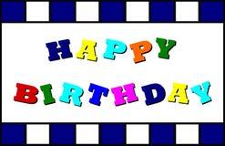 szczęśliwa urodzinowa karta Obraz Royalty Free