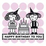 szczęśliwa urodzinowy. Obrazy Royalty Free