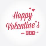 Szczęśliwa Valentineâs dnia karta Obrazy Royalty Free