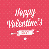 Szczęśliwa Valentineâs dnia karta z faborkiem Obraz Royalty Free
