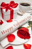 szczęśliwa valentine dnia gazeta Obrazy Stock