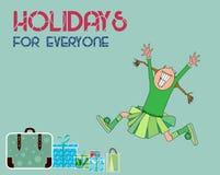 Szczęśliwa wakacje karta Zdjęcia Stock