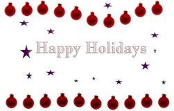 szczęśliwa wakacji plakata czerwień Zdjęcia Stock