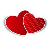 Szczęśliwa Walentynek Dzień karta z sercem. Wektor royalty ilustracja