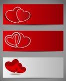 Szczęśliwa walentynka dnia karta z sercem. Wektor royalty ilustracja