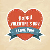 Szczęśliwa Walentynki Dzień karta Fotografia Royalty Free