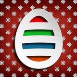 Szczęśliwa wielkanoc - barwiony jajko na kwiatu tle Obrazy Royalty Free