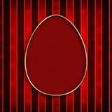 Szczęśliwa wielkanoc - czerwony jajko na wzorzystym tle Zdjęcie Royalty Free