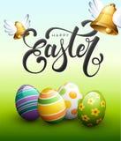 Szczęśliwa wielkanoc i Easter jajka royalty ilustracja