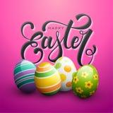 Szczęśliwa wielkanoc i Easter jajka ilustracji