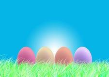 Szczęśliwa wielkanoc i jajka Wielkanocni Obraz Royalty Free