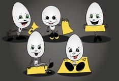 Szczęśliwi Wielkanocni jajka Fotografia Stock