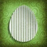 Szczęśliwa wielkanoc - kształt jajko na wzorzystym tle Zdjęcie Stock