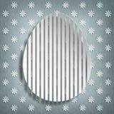 Szczęśliwa wielkanoc - kształt jajko na wzorzystym tle Zdjęcia Stock